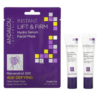 Andalou Naturals, Age Defying Day To Night, 3 Piece Kit