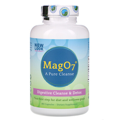 Mag O7, Digestive Cleanse & Detox, 180 Capsules mag 07 the ultimate oxygenating digestive system cleanser 120 vegetarian capsules