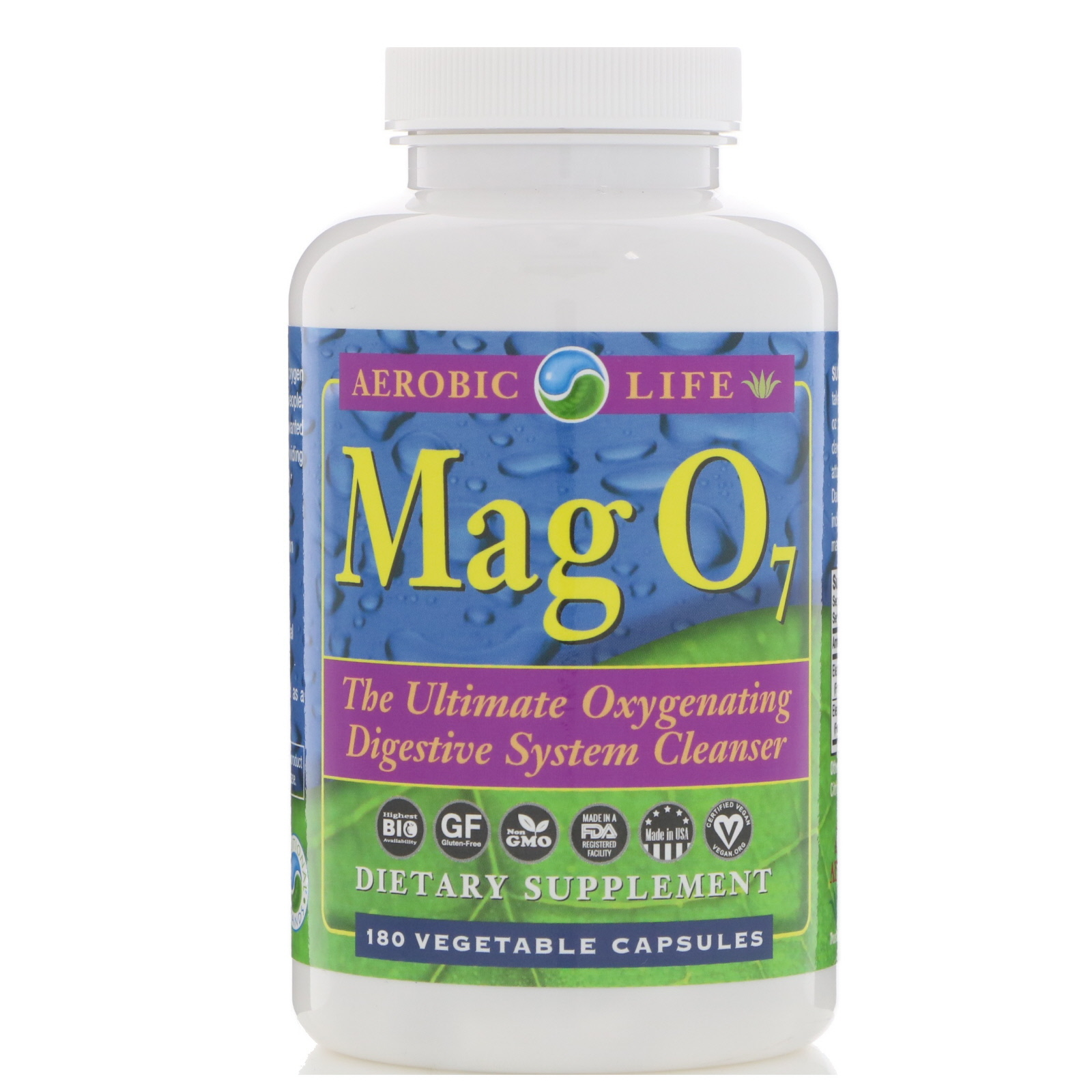 garden greens colon cleanse. Aerobic Life, Mag 07, The Ultimate Oxygenating Digestive System Cleanser, 180 Vegetable Capsules Garden Greens Colon Cleanse