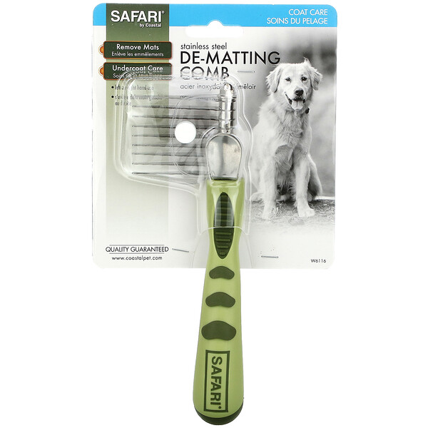 Dog Dematting Comb for Long or Coarse Hair, 1 Comb