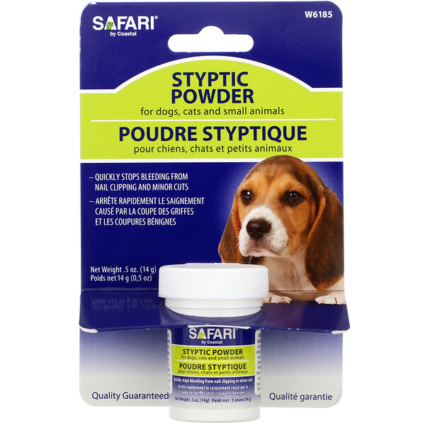 Styptic Powder for Dogs, Cats and Small Animals , .5 oz (14 g)