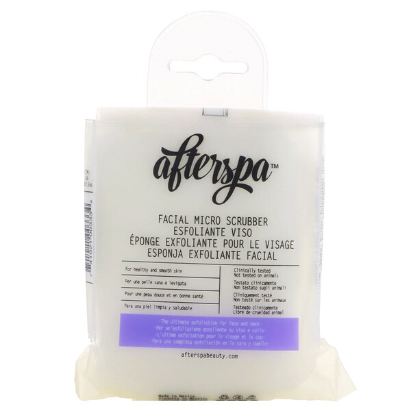 AfterSpa, Facial Micro Scrubber, 1 Scrubber