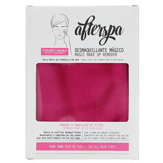 AfterSpa, Magic Make Up Remover Reusable Cloth, Pink, 1 Cloth