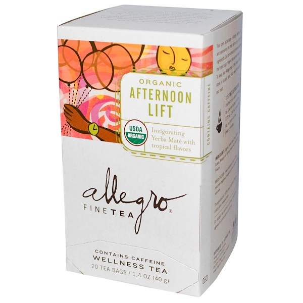 Allegro Fine Tea, Organic Afternoon Lift, 20 Tea Bags, 1.4 oz (40 g) (Discontinued Item)