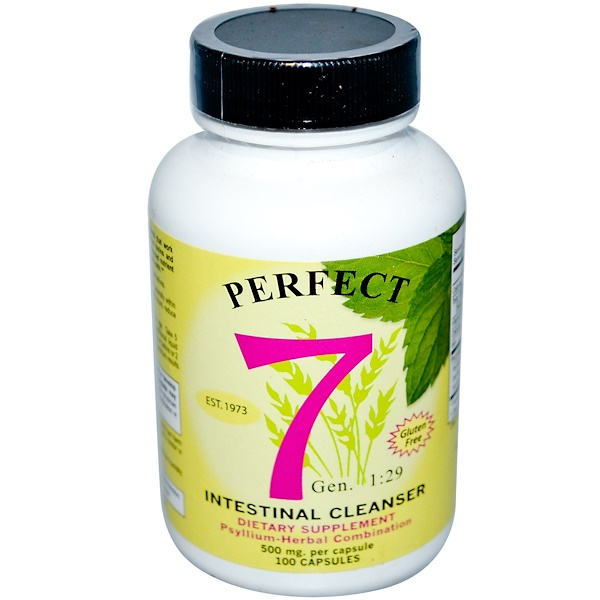 Agape Health Products, Perfect 7, Intestinal Cleanser, 500 mg, 100 Capsules (Discontinued Item)