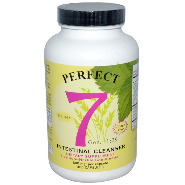 Agape Health Products, Perfect 7, Intestinal Cleanser, 500 mg, 400 Capsules (Discontinued Item)