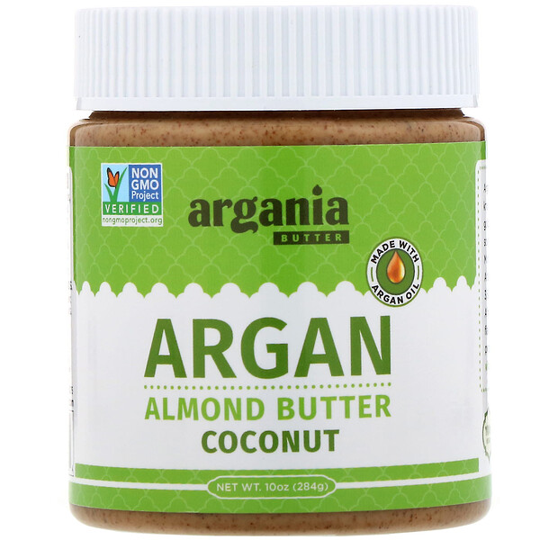 Argania Butter, Argan Almond Butter, Coconut, 10 oz (284 g)