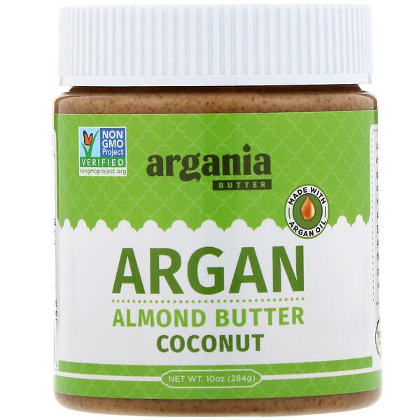 Argania Butter, Argan Almond Butter, Coconut, 10 oz (284 g) (Discontinued Item)