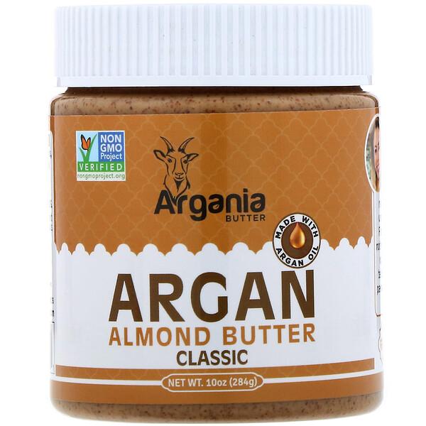 Argania Butter, Argan Almond Butter, Classic, 10 oz (284 g) (Discontinued Item)