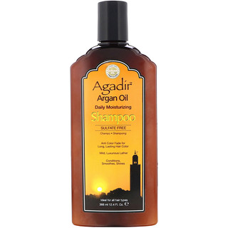 Agadir, Argan Oil, Daily Moisturizing Shampoo, Sulfate Free, 12.4 fl oz (366 ml)