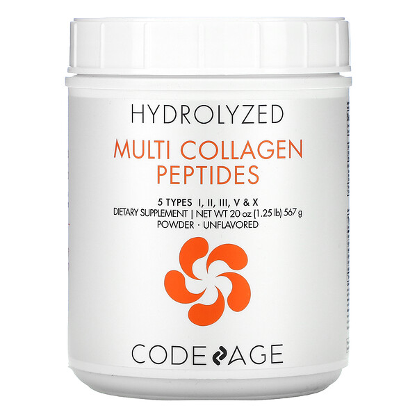 Hydrolyzed, Multi Collagen Peptides, Unflavored, 20 oz (567 g)
