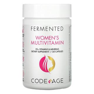 CodeAge, 発酵、女性用マルチビタミン、120粒