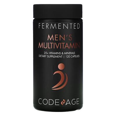 Купить CodeAge Fermented, Men's Multivitamin, 120 Capsules