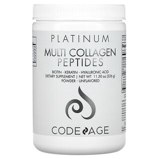 CodeAge, Platinum, Multi Collagen Peptides Powder, Unflavored, 11.50 oz (326 g)