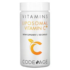 CodeAge, 維生素,脂質體維生素 C+,180 粒