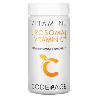 CodeAge, ビタミン、リポソームビタミンC+、180粒