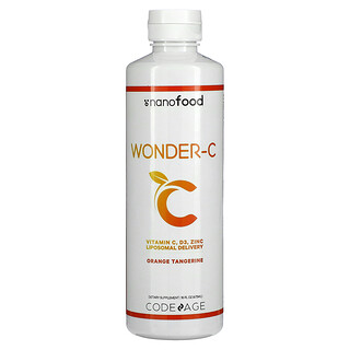 CodeAge, Wonder-C, Liposomal Delivery, Orange Tangerine, 16 fl oz (473 ml)