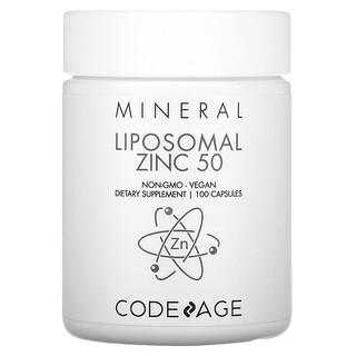 CodeAge, Liposomal, Zinc 50 , 100 Capsules