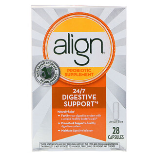 Align, 24/7 Digestive Support, Probiotic Supplement, 28 Capsules