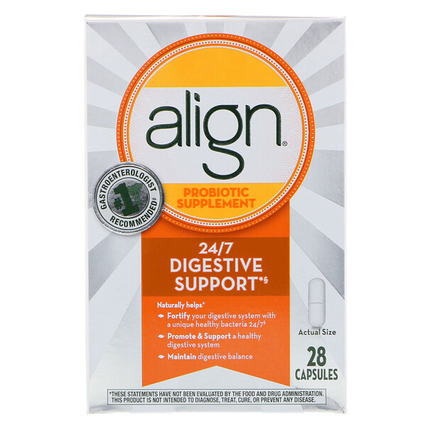 Align Probiotics, 24/7 Digestive Support, Probiotic Supplement, 28 Capsules (Discontinued Item)