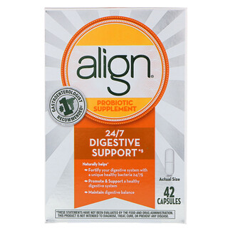 Align, 24/7 Digestive Support, Probiotic Supplement, 42 Capsules