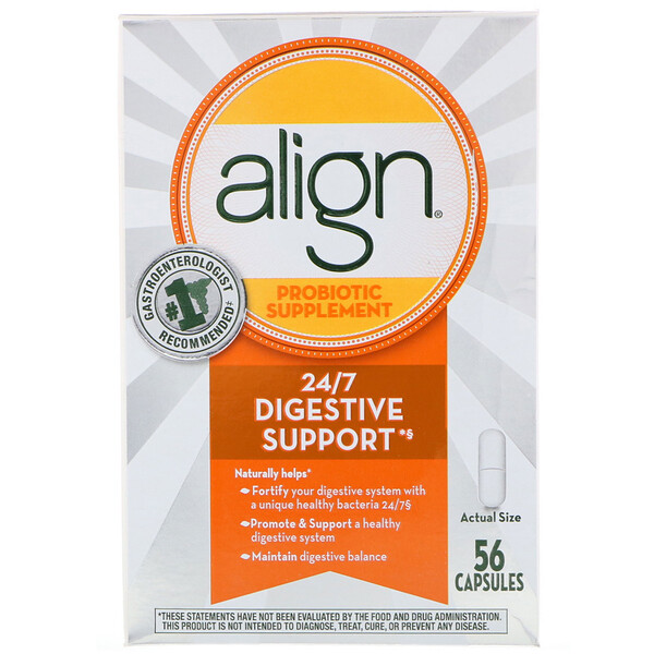 Align Probiotics, 24/7 Digestive Support, Probiotic Supplement, 56 Capsules (Discontinued Item)