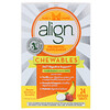 Align Probiotics, 24/7 Digestive Support, Probiotic Supplement, Chewables, Banana Strawberry Smoothie, 24 Chewable Tablets