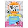 Align Probiotics, 24/7 Digestive Support, Jr. Probiotic Supplement, Chewables for Kids, Cherry Smoothie, 24 Chewable Tablets