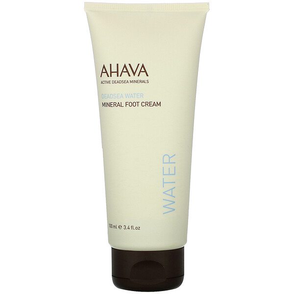 AHAVA, Deadsea Water, Mineral Foot Cream, 3.4 fl oz (100 ml) (Discontinued Item)