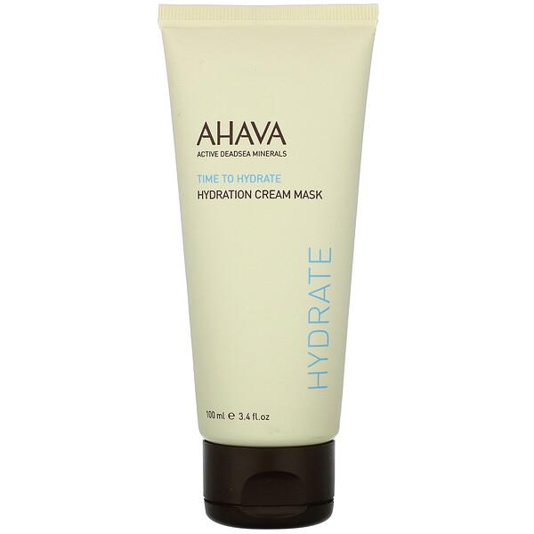 AHAVA, Time To Hydrate, Hydration Cream Mask, 3.4 fl oz (100 ml) (Discontinued Item)