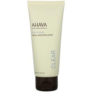 AHAVA, Time To Clear, Facial Mud Exfoliator, 3.4 fl oz (100 ml) отзывы