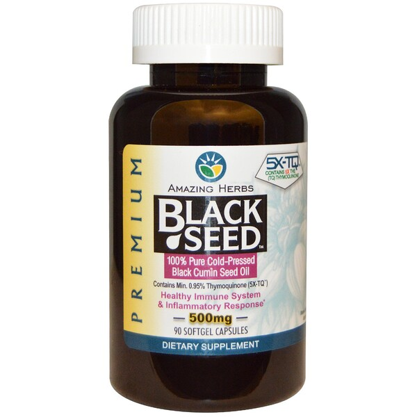 Black Seed, 500 mg, 90 Softgel Capsules