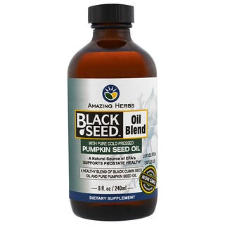 Amazing Herbs, Black Seed Oil Blend with Pure Cold-Pressed Pumpkin Seed Oil, 8 fl oz (240 ml)