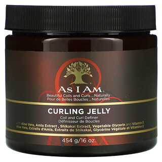 As I Am, Classic, Curling Jelly, Coil And Curl Definer, 16 oz (456 g)