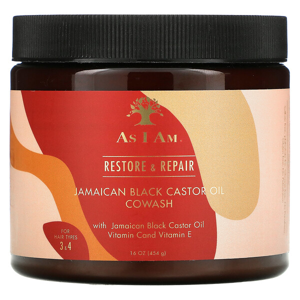 As I Am, Restore & Repair, Jamaican Black Castor Oil Cowash, 16 fl oz (454 g)