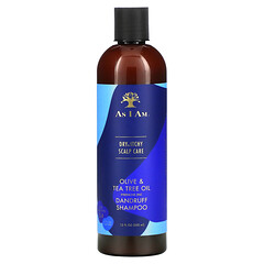 As I Am, 乾燥發癢頭皮護理,橄欖和茶樹油去屑洗發水,12 液量盎司(355 毫升)