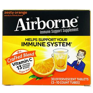 AirBorne, добавка для поддержки иммунной системы, со вкусом апельсина, 3пробирки, по 10шипучих таблеток