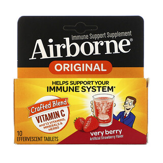 AirBorne, Immune Support Supplement, Very Berry, 10 Effervescent Tablets