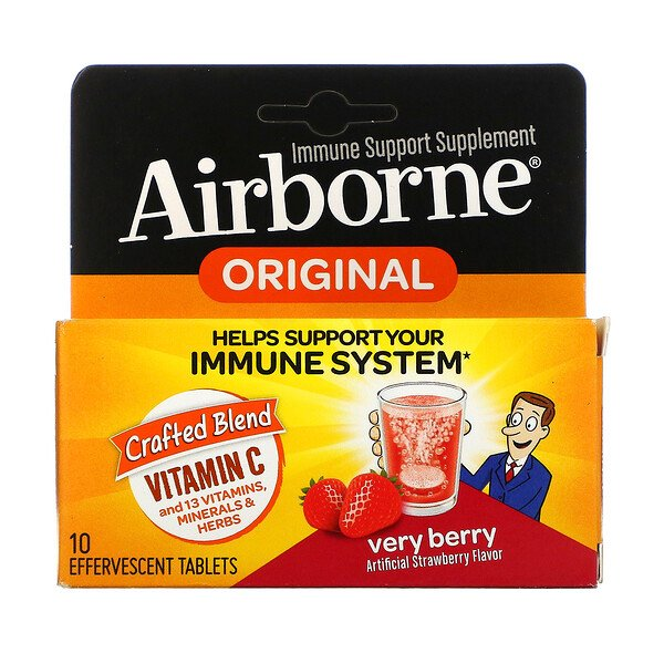 AirBorne,  Vitamin C, Very Berry, 10 Effervescent Tablets