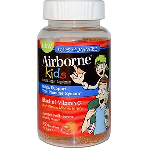 AirBorne, Kids Gummies, Assorted Fruit Flavors, 42 Gummies купить на iHerb