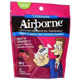 AirBorne, Blast of Vitamin C, Berry, 20 Individually Wrapped Lozenges