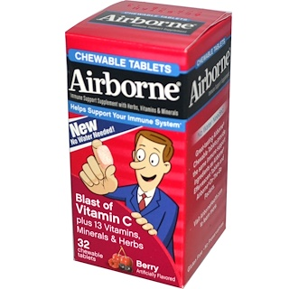AirBorne, Blast of Vitamin C, Berry, 32 Chewable Tablets