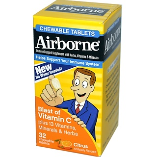 AirBorne, Blast of Vitamin C, Citrus, 32 ChewableTablets