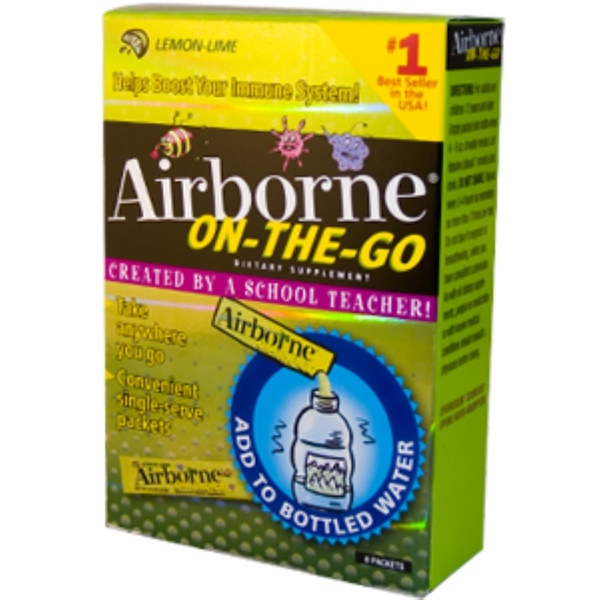 AirBorne, On-The-Go Effervescent Health Formula, Lemon-Lime Flavor, 8 Packets (Discontinued Item)