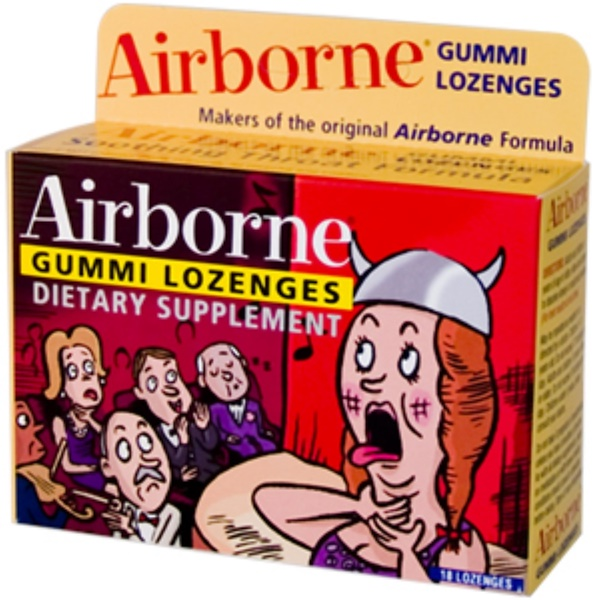 AirBorne, Gummi Throat Lozenges, 18 Lozenges (Discontinued Item)