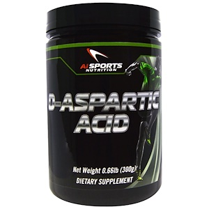 AI Sports Nutrition, D-аспарагиновая кислота, 300 г (0,66 фунта)