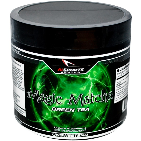 AI Sports Nutrition, Magic Matcha, Green Tea, Unsweetened, 0.46 lbs (210 g) (Discontinued Item)