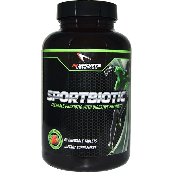 AI Sports Nutrition, Sportbiotic, Strawberry Flavor, 60 Chewable Tablets (Discontinued Item)