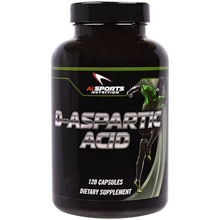 AI Sports Nutrition, D-Aspartic Acid, 120 Capsules