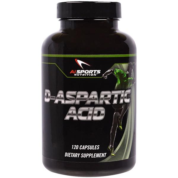 AI Sports Nutrition, D-Aspartic Acid, 120 Capsules